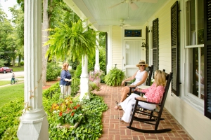 Antebellum Inn front porch