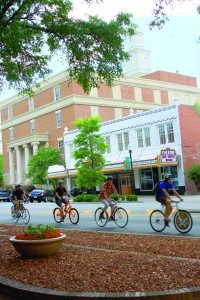Biking downtown Milledgeville