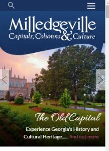 responsive view of visitmilledgeville.com